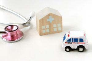 救急車と病院